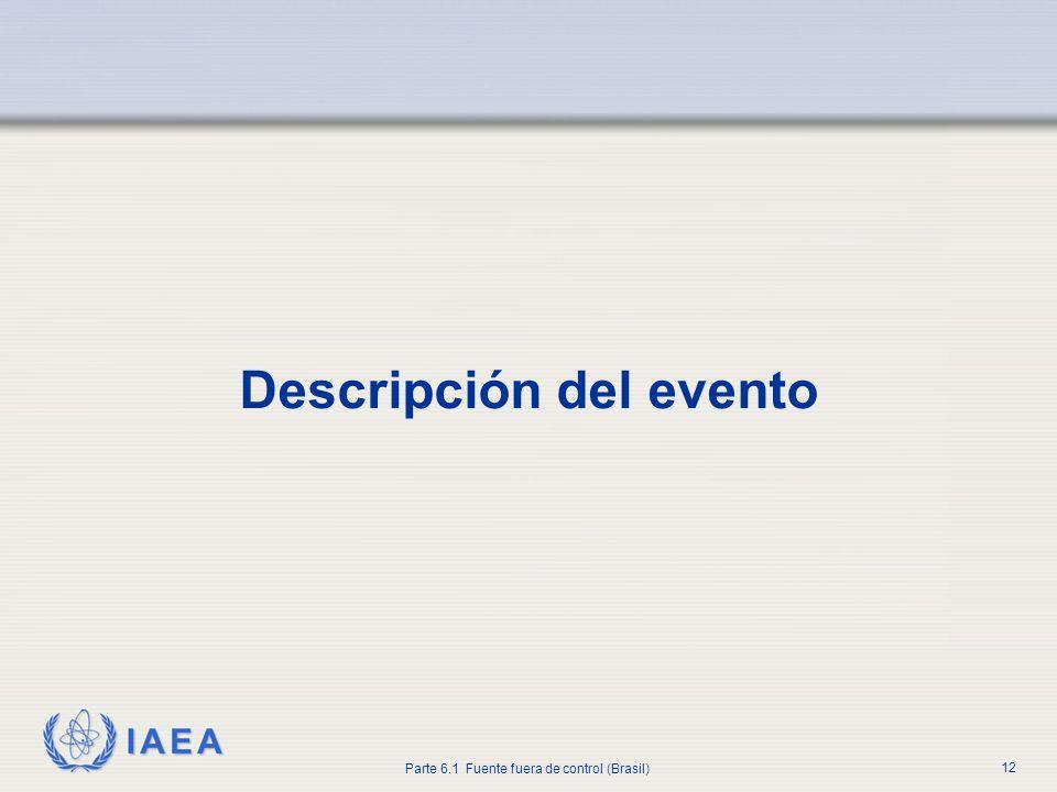 IAEA Parte 6.1 Fuente fuera de control (Brasil) 12 Descripción del evento
