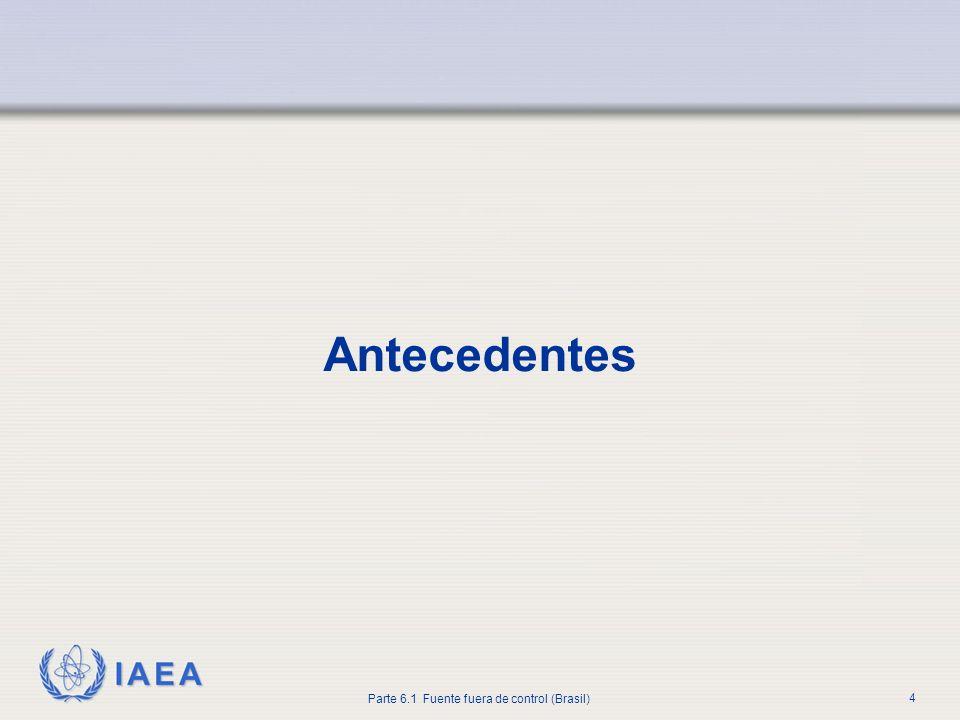 IAEA Parte 6.1 Fuente fuera de control (Brasil) 4 Antecedentes
