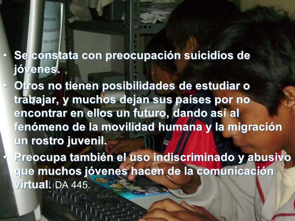 Se constata con preocupación suicidios de jóvenes.Se constata con preocupación suicidios de jóvenes.