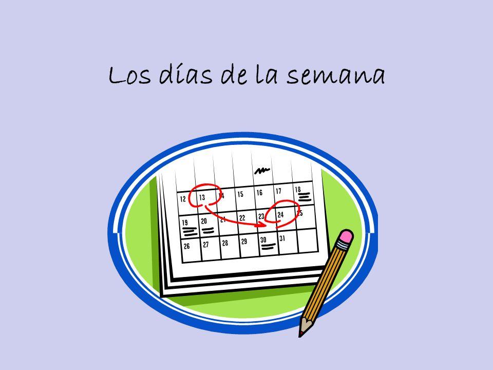 Preguntas Importantes ¿Qué día es hoy.What day is today.