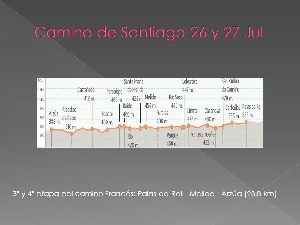 3ª y 4ª etapa del camino Francés: Palas de Rei – Melide - Arzúa (28,8 km)