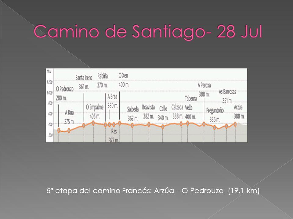 5ª etapa del camino Francés: Arzúa – O Pedrouzo (19,1 km)