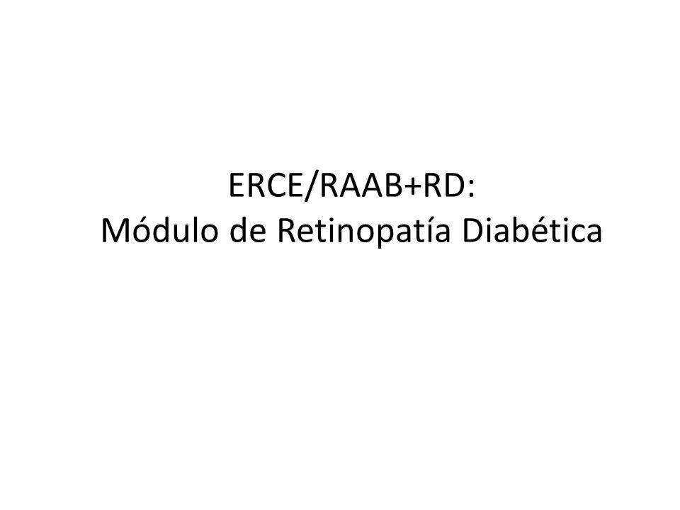 ERCE/RAAB+RD: Módulo de Retinopatía Diabética