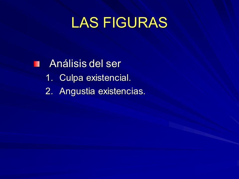 LAS FIGURAS Análisis del ser 1.Culpa existencial. 2.Angustia existencias.