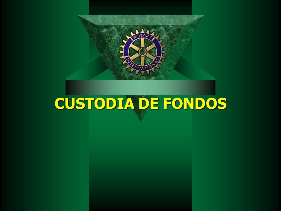 CUSTODIA DE FONDOS