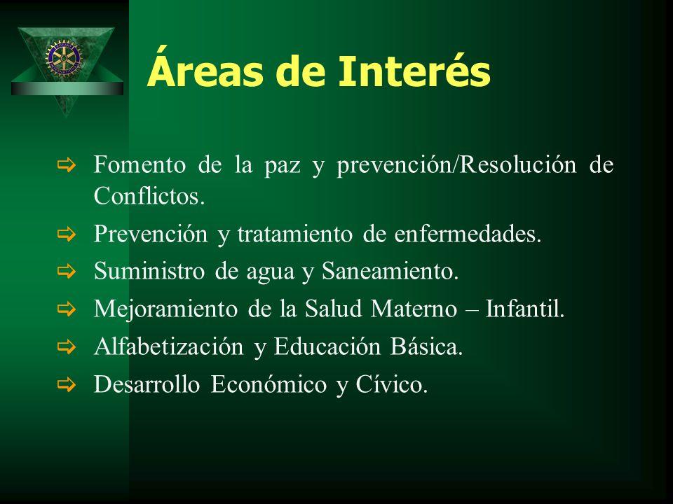 Áreas de Interés Fomento de la paz y prevención/Resolución de Conflictos.
