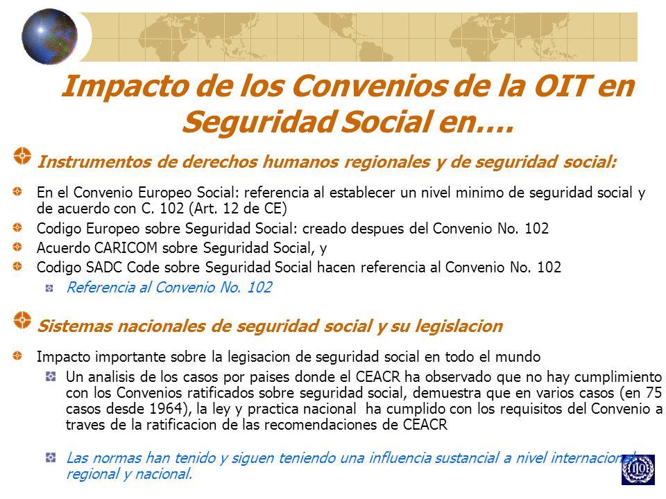 Impacto de los Convenios de la OIT en Seguridad Social en…. Instrumentos de derechos humanos regionales y de seguridad social: En el Convenio Europeo