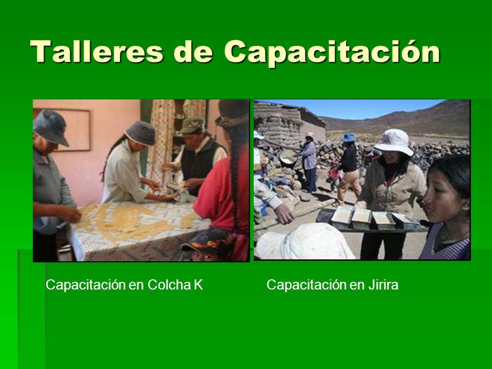 Talleres de Capacitación Capacitación en Colcha KCapacitación en Jirira