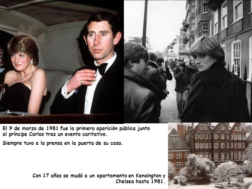 Con 17 años se mudó a un apartamento en Kensington y Chelsea hasta 1981. El 9 de marzo de 1981 fue la primera aparición pública junto al príncipe Carl