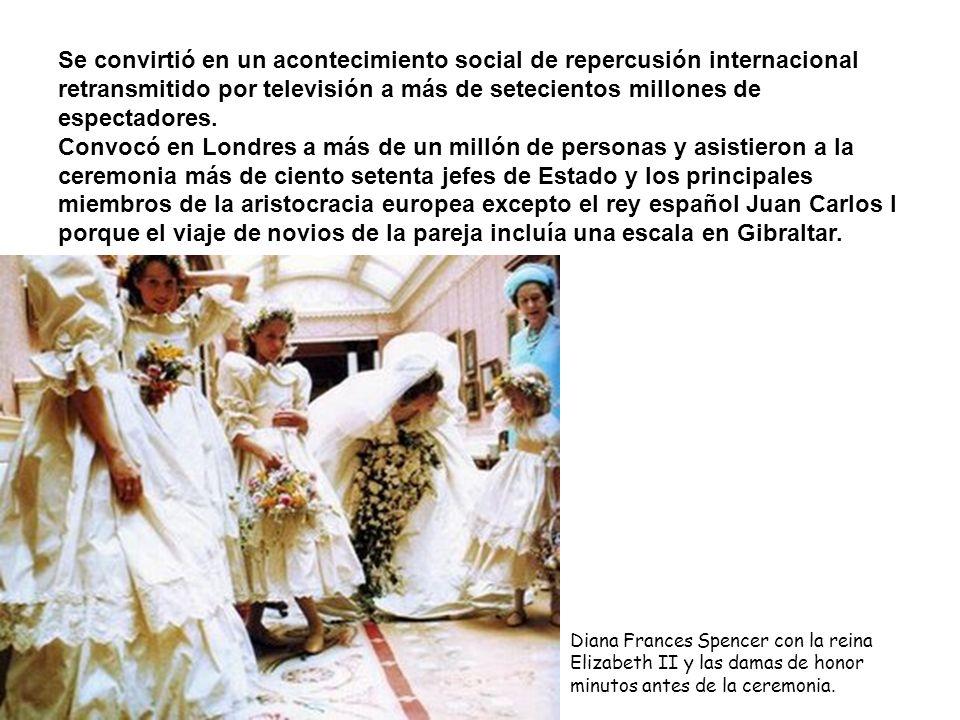 Se convirtió en un acontecimiento social de repercusión internacional retransmitido por televisión a más de setecientos millones de espectadores. Conv