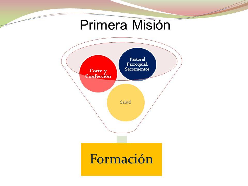 Formación Salud Corte y Confección Pastoral Parroquial, Sacramentos Primera Misión