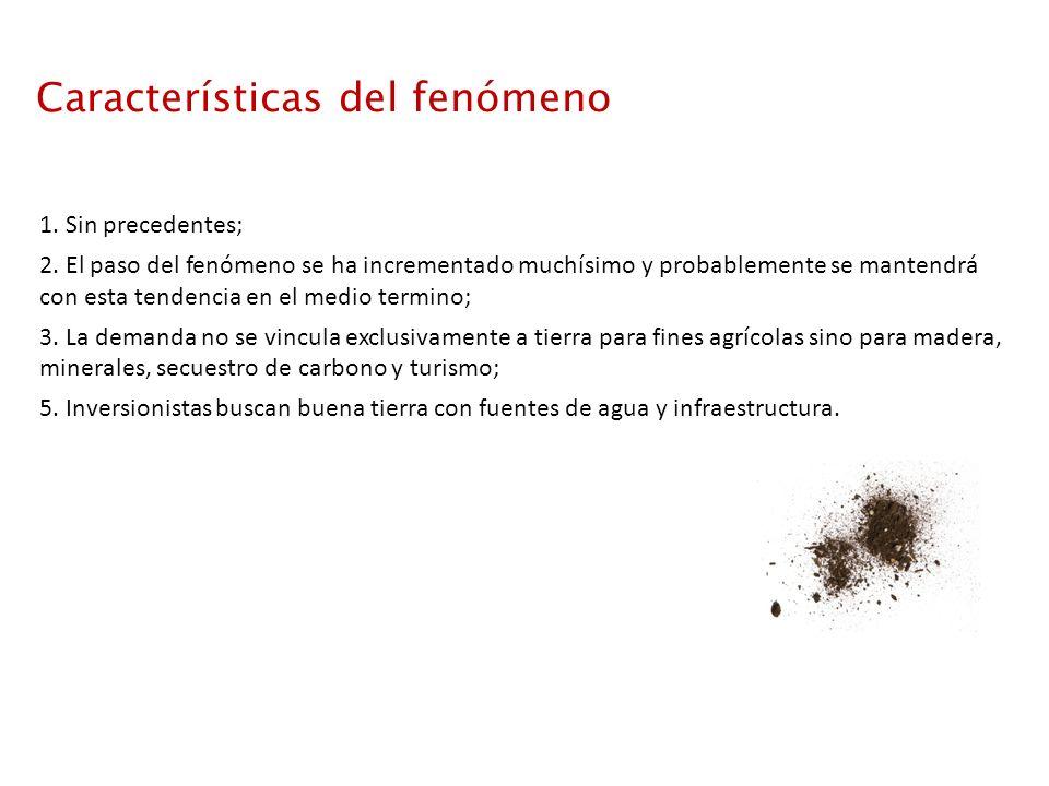 Características del fenómeno 1. Sin precedentes; 2.