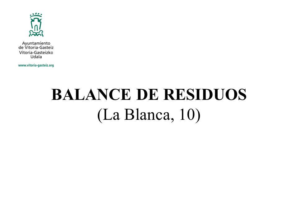 BALANCE DE RESIDUOS (La Blanca, 10)