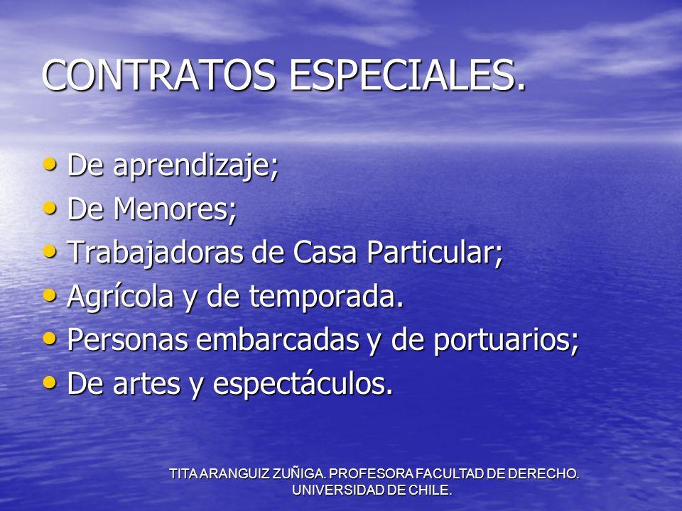 TITA ARANGUIZ ZUÑIGA. PROFESORA FACULTAD DE DERECHO. UNIVERSIDAD DE CHILE. CONTRATOS ESPECIALES. De aprendizaje; De aprendizaje; De Menores; De Menore