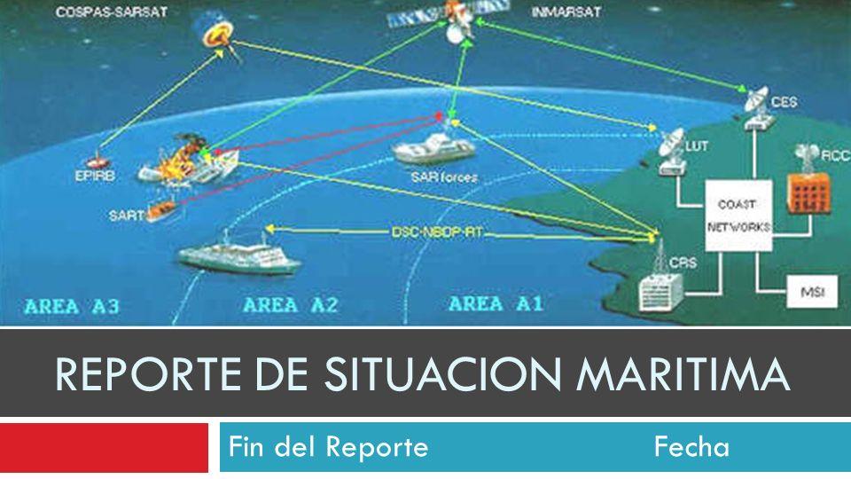 REPORTE DE SITUACION MARITIMA Fin del ReporteFecha