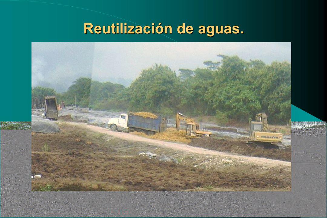 Reutilización de aguas.