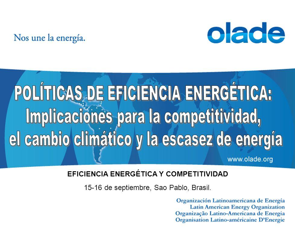 15-16 de septiembre, Sao Pablo, Brasil. EFICIENCIA ENERGÉTICA Y COMPETITIVIDAD