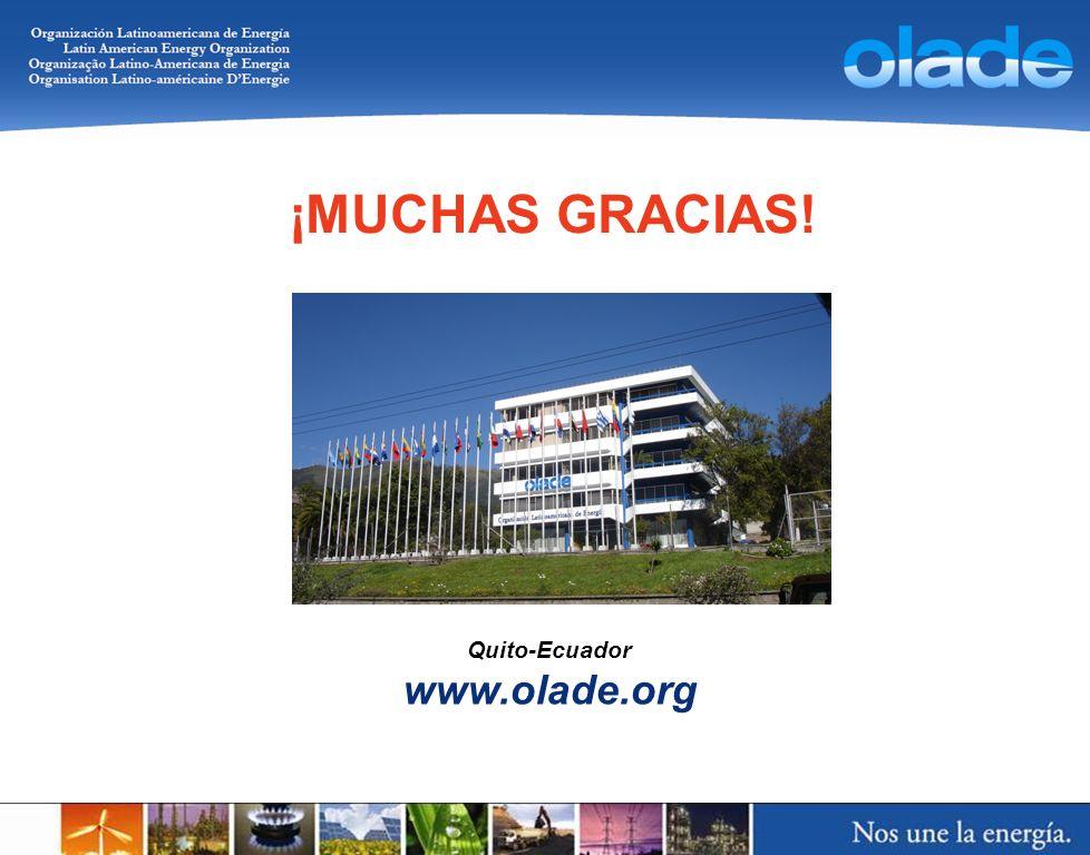 ¡MUCHAS GRACIAS! Quito-Ecuador www.olade.org