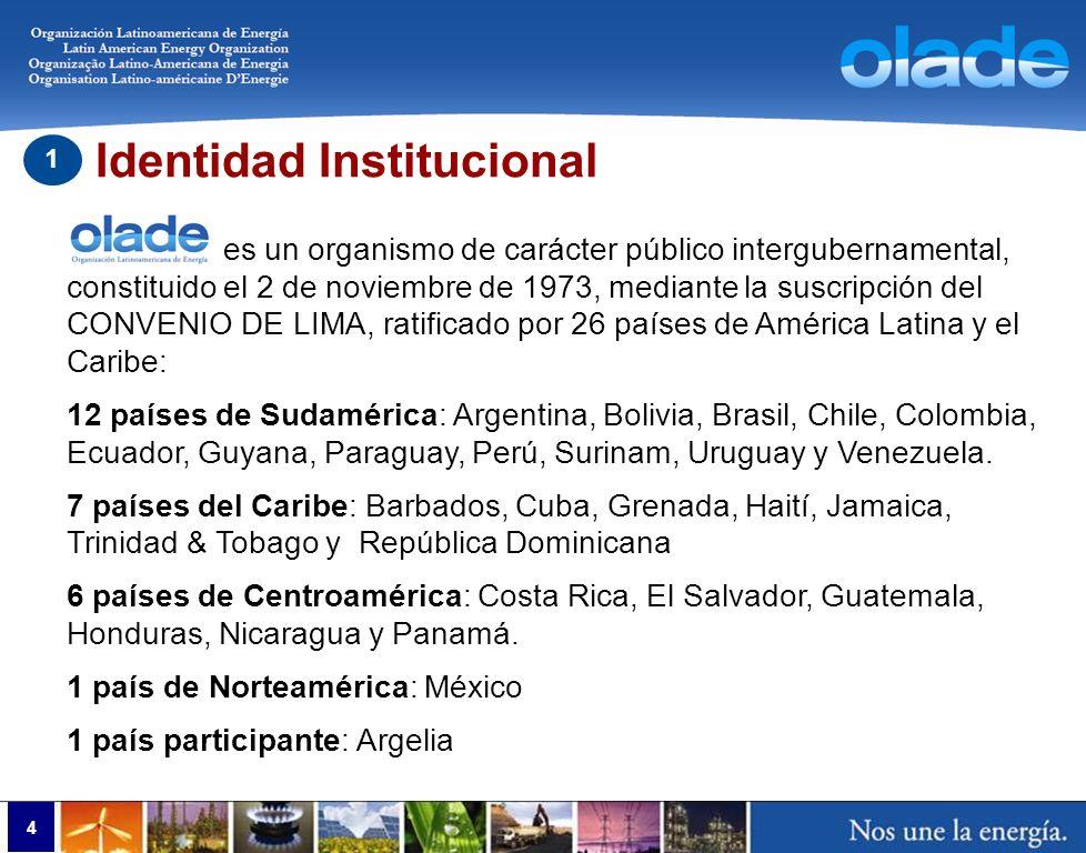 Actividades OLADE Eficiencia Energética en la Región AL y C 4 Página Web de OLADE http://www.olade.org/eficiencia.html Boletines técnicos Estudio de normativa de eficiencia energética Análisis comparativo de información sobre etiquetado Capacitación virtual En cumplimiento a lo establecido en la Declaración Ministerial de Medellín, se ejecutan los siguientes programas: