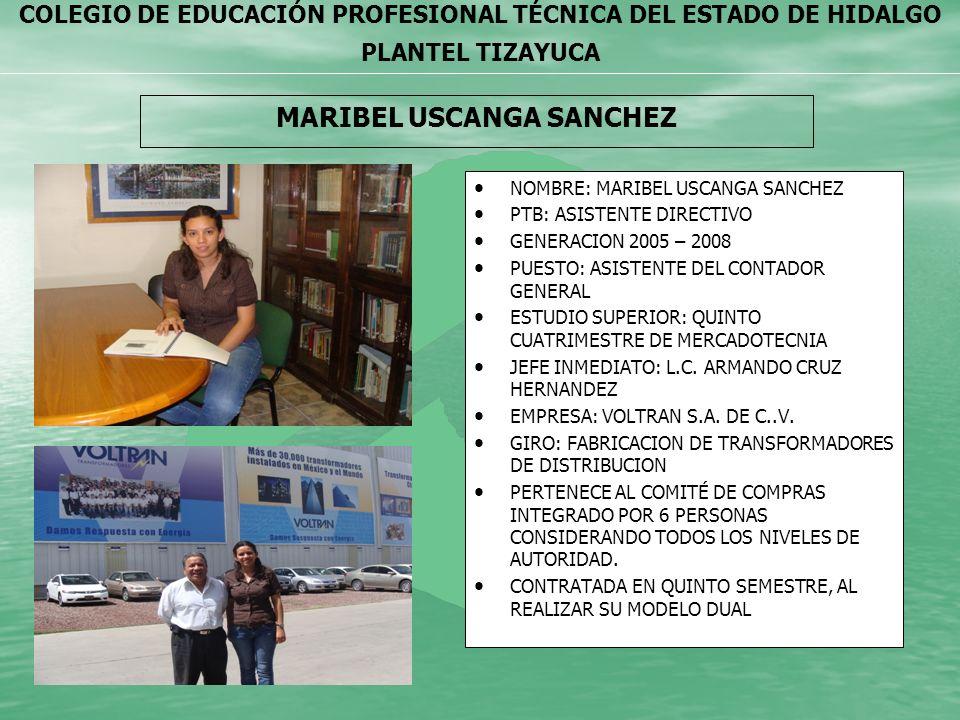 COLEGIO DE EDUCACIÓN PROFESIONAL TÉCNICA DEL ESTADO DE HIDALGO PLANTEL TIZAYUCA ELIANA GUADALUPE MARTINEZ PELCASTRE NOMBRE: ELIANA GUADALUPE MARTINEZ PELCASTRE PTB: CONTROL DE CALIDAD GENERACION 2006-2009 PUESTO: SUPERVISOR DE CONTROL DE CALIDAD.