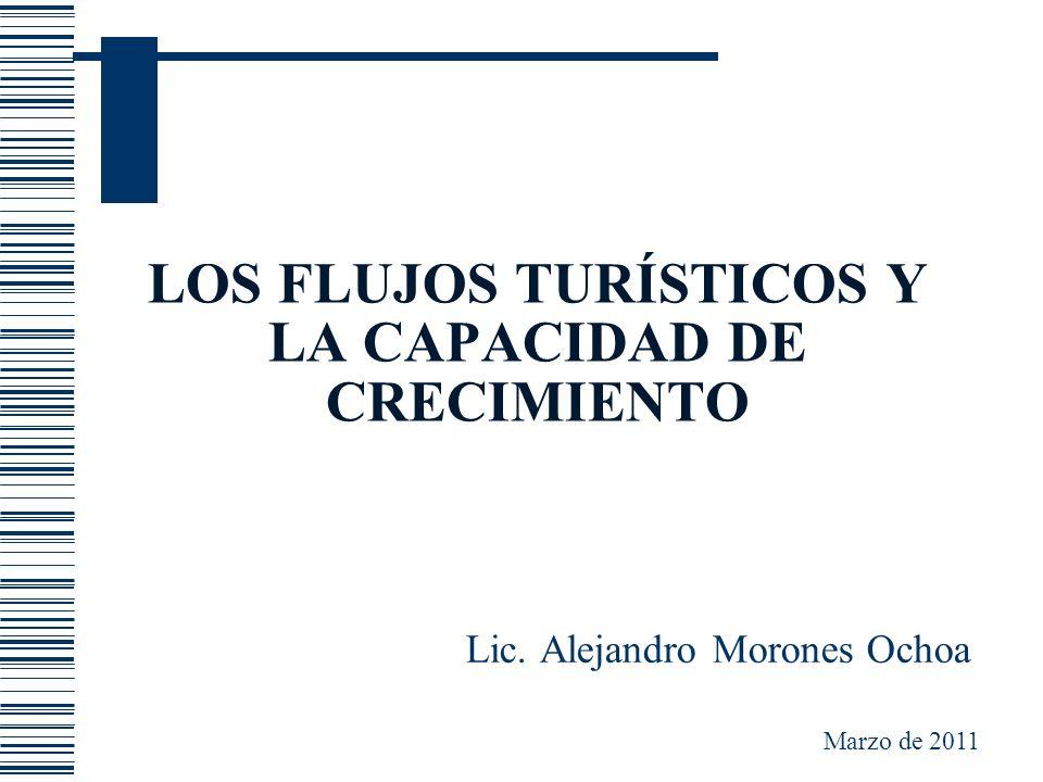 LOS FLUJOS TURÍSTICOS Y LA CAPACIDAD DE CRECIMIENTO Lic. Alejandro Morones Ochoa Marzo de 2011