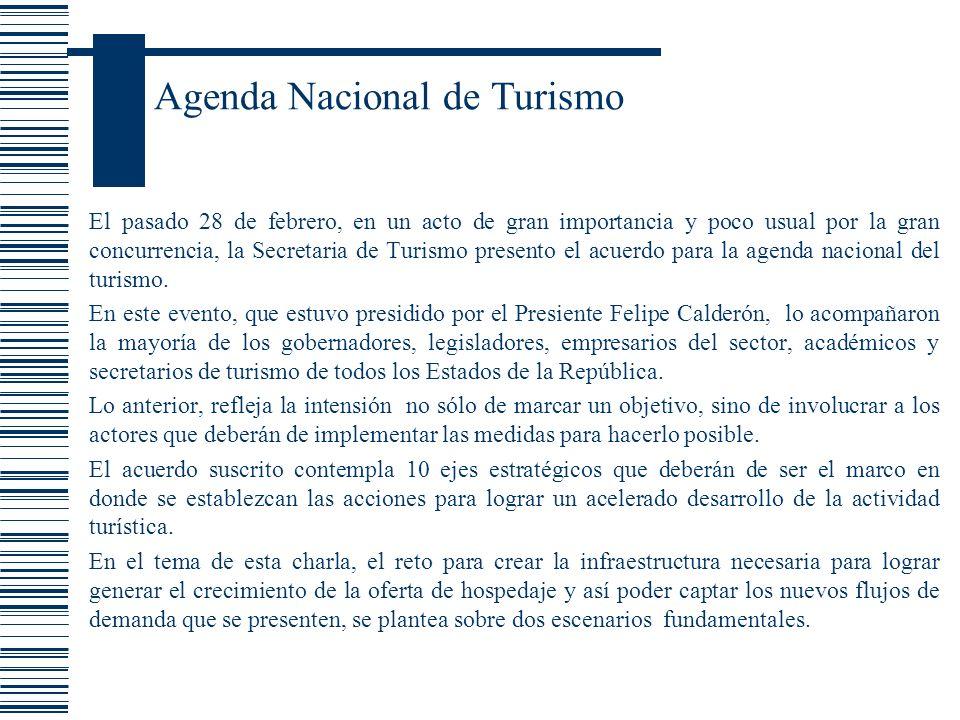 Agenda Nacional de Turismo El pasado 28 de febrero, en un acto de gran importancia y poco usual por la gran concurrencia, la Secretaria de Turismo pre