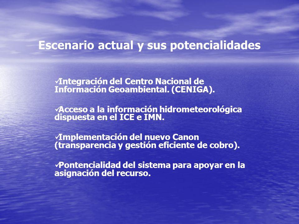 Integración del Centro Nacional de Información Geoambiental. (CENIGA). Acceso a la información hidrometeorológica dispuesta en el ICE e IMN. Implement