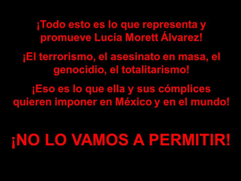 ¡Todo esto es lo que representa y promueve Lucía Morett Álvarez.