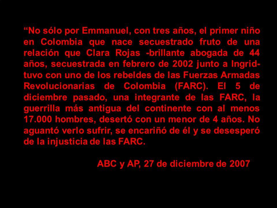 REVELAN HORRIBLES ABUSOS DE LAS FARC A MENORES.