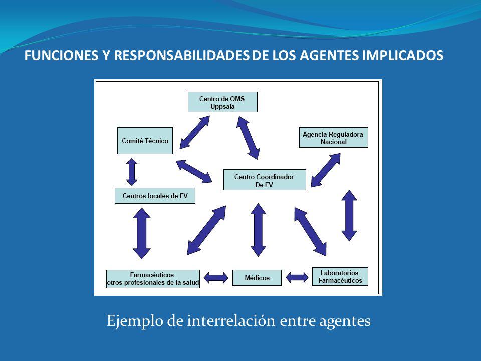 FUNCIONES Y RESPONSABILIDADES DE LOS AGENTES IMPLICADOS Ejemplo de interrelación entre agentes