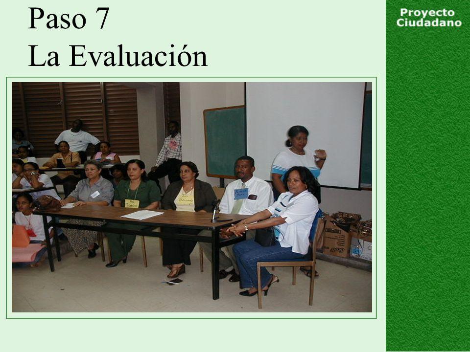 Paso 7 La Evaluación