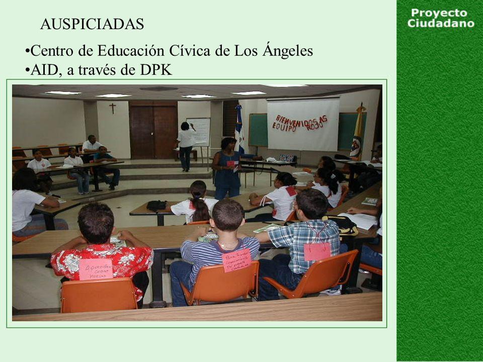 AUSPICIADAS Centro de Educación Cívica de Los Ángeles AID, a través de DPK