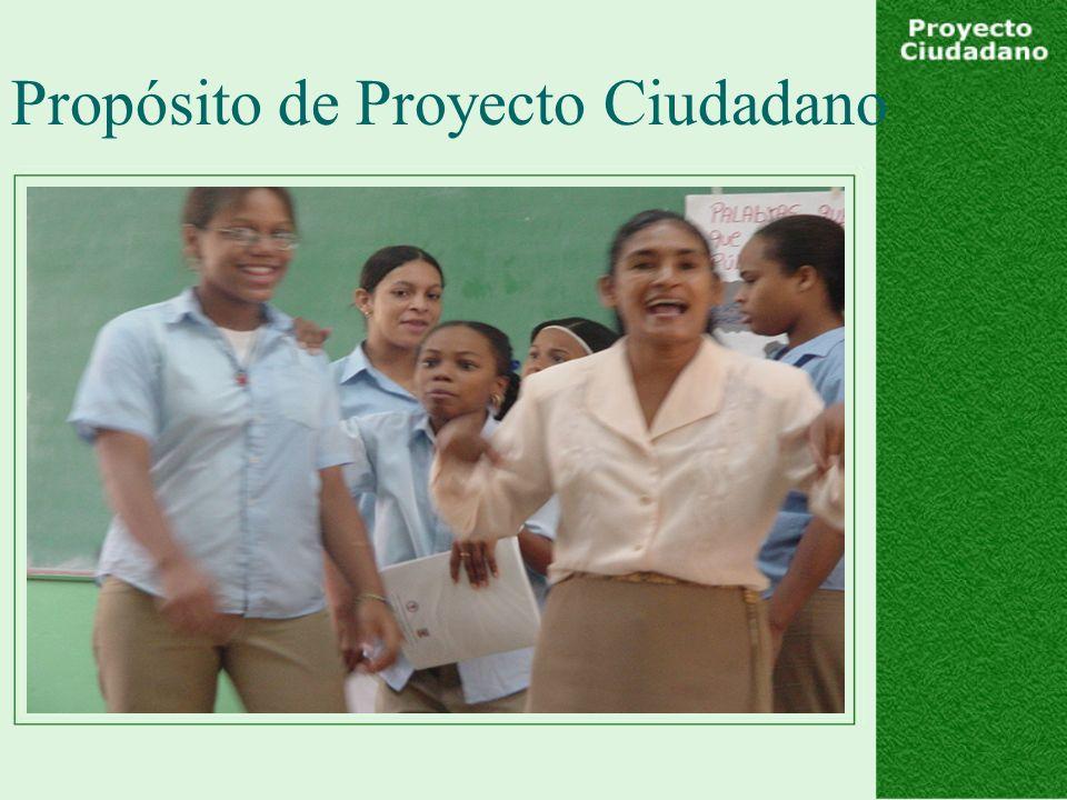 Propósito de Proyecto Ciudadano
