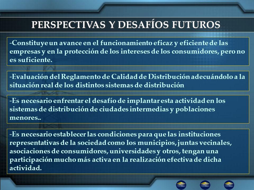 PERSPECTIVAS Y DESAFÍOS FUTUROS -Constituye un avance en el funcionamiento eficaz y eficiente de las empresas y en la protección de los intereses de l