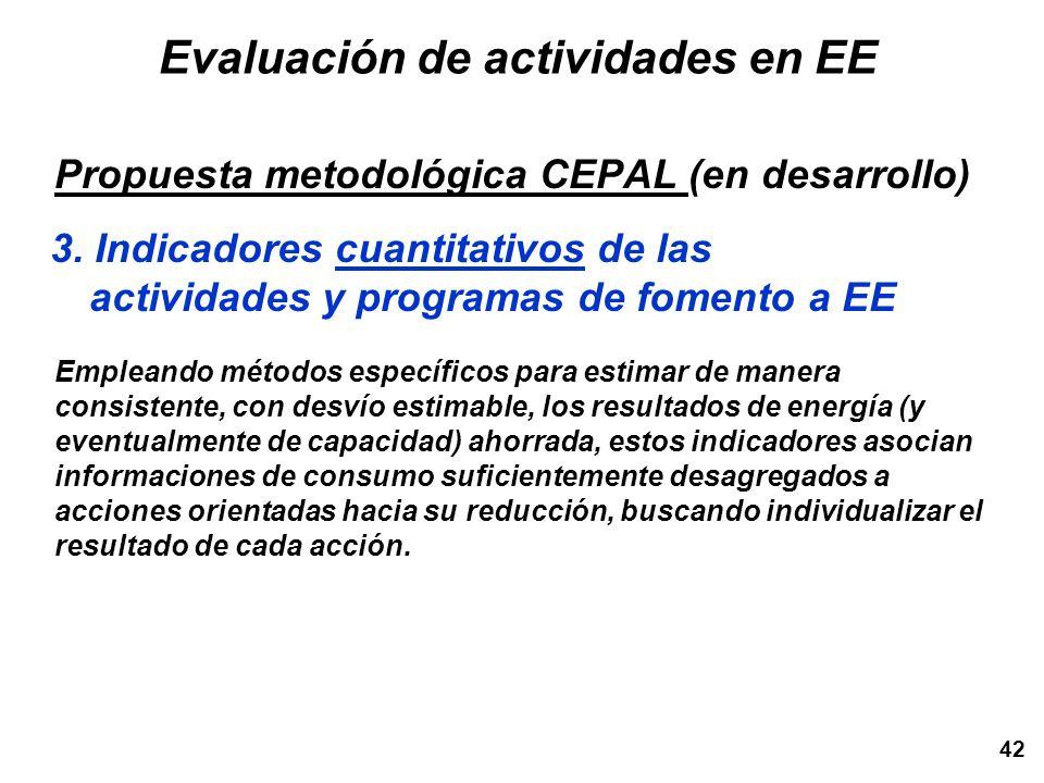 42 Empleando métodos específicos para estimar de manera consistente, con desvío estimable, los resultados de energía (y eventualmente de capacidad) ah