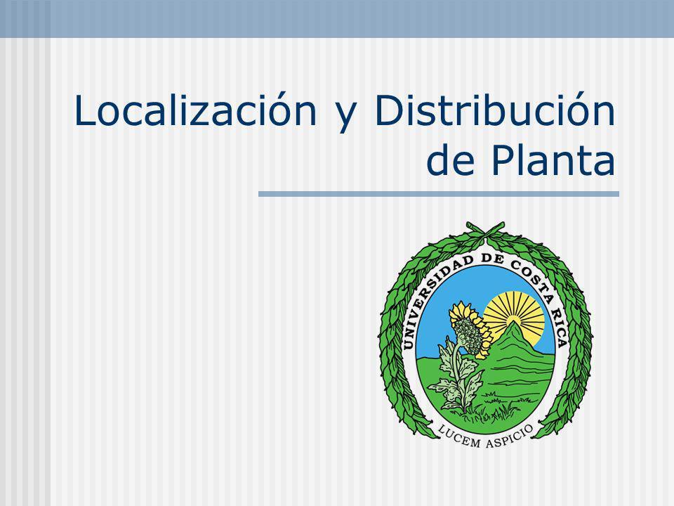Localización y Distribución de Planta