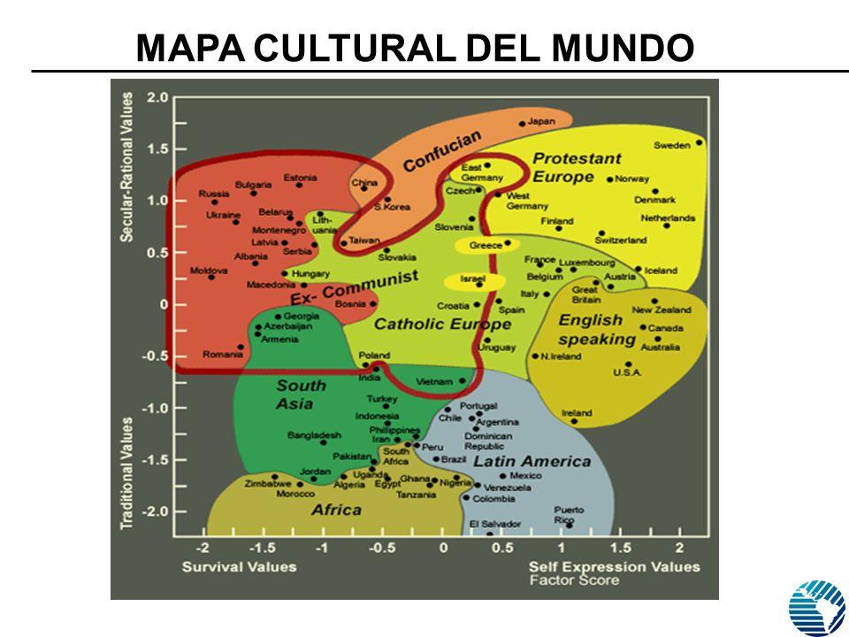 Fuente: ESTUDIO MUNDIAL DE VALORES. MORI, Julio 2006 N=1000 MAPA CULTURAL DEL MUNDO