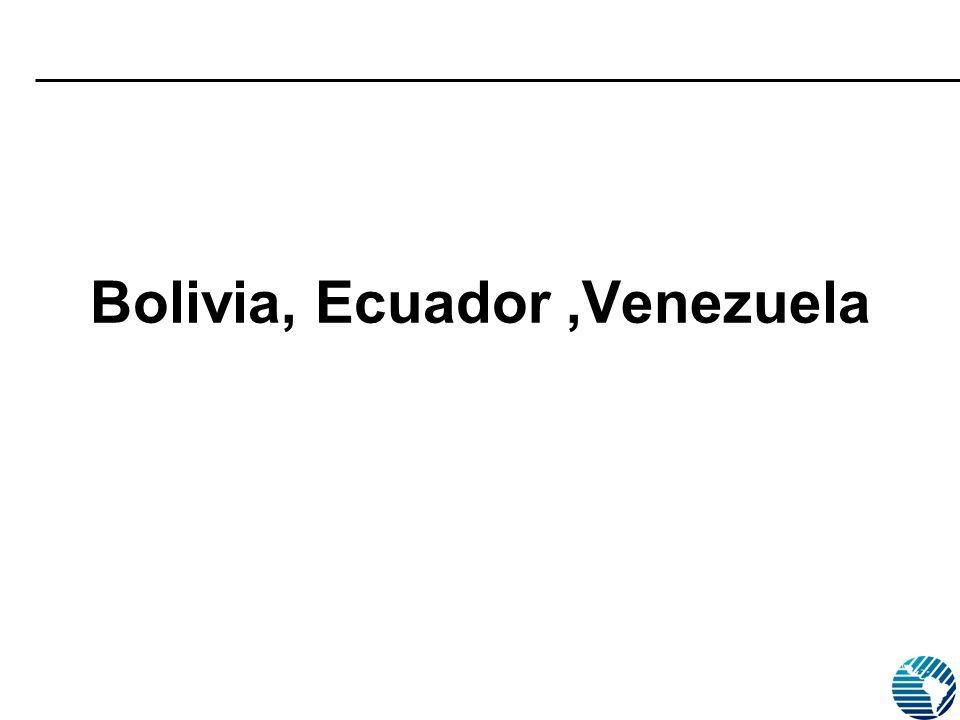 Bolivia, Ecuador,Venezuela