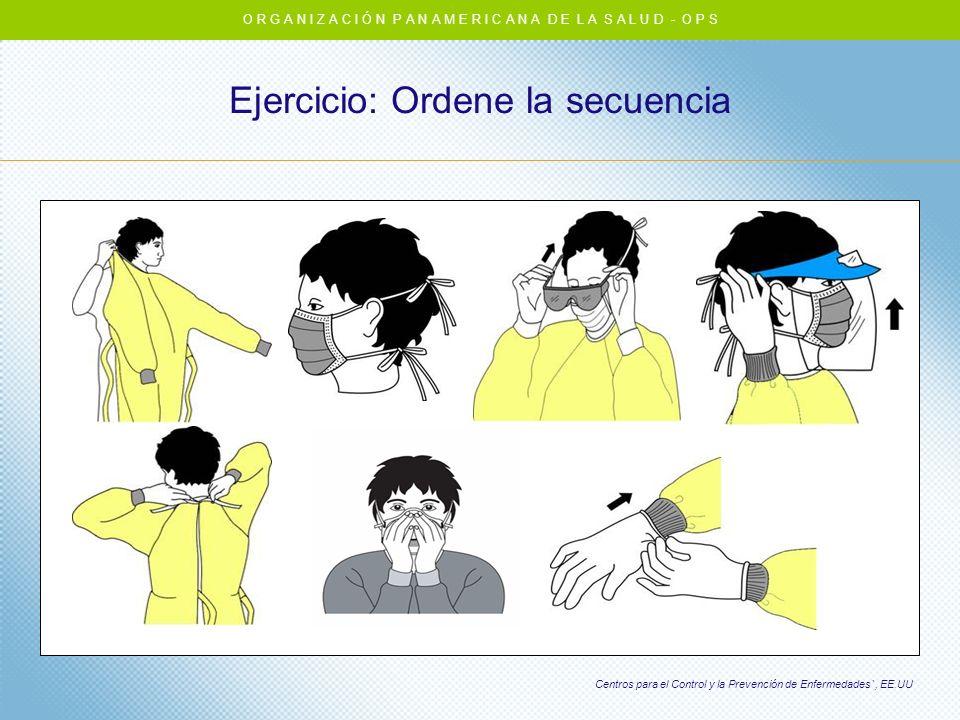 Ejercicio: Ordene la secuencia O R G A N I Z A C I Ó N P A N A M E R I C A N A D E L A S A L U D - O P S Centros para el Control y la Prevención de En