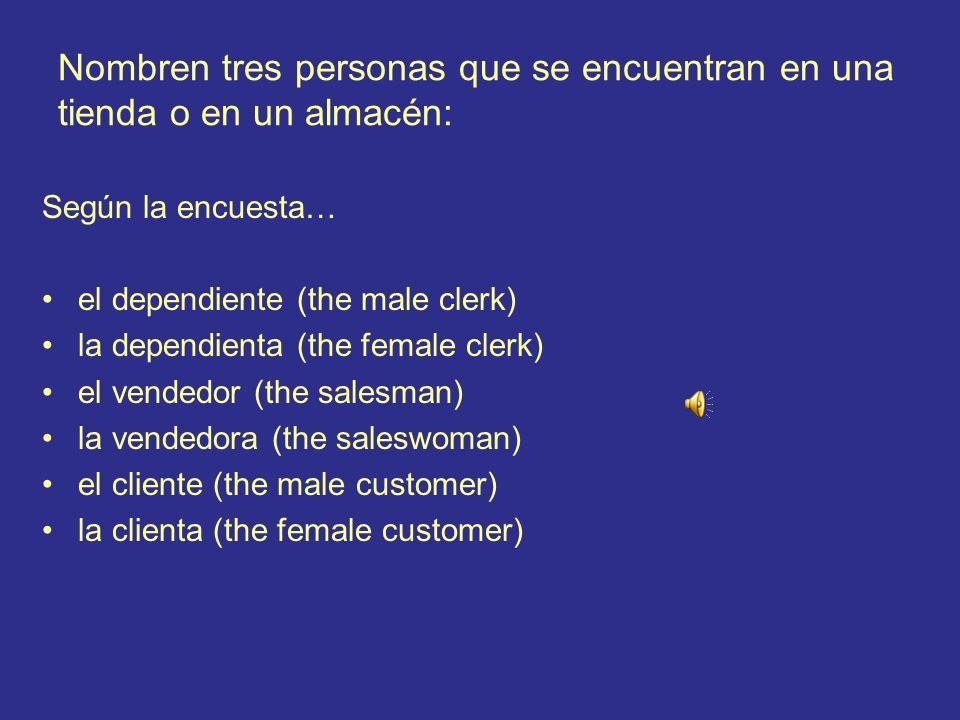 7.¿Cómo se dice en español? the fabric (material) la tela