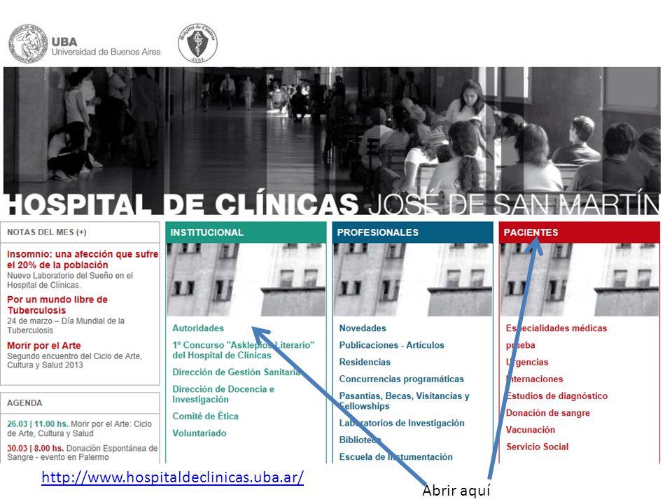 http://www.hospitaldeclinicas.uba.ar/ Abrir aquí