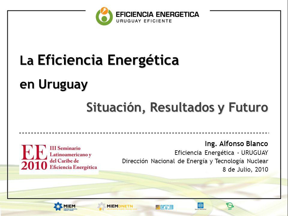 La Eficiencia Energética en Uruguay Situación, Resultados y Futuro Ing. Alfonso Blanco Eficiencia Energética - URUGUAY Dirección Nacional de Energía y