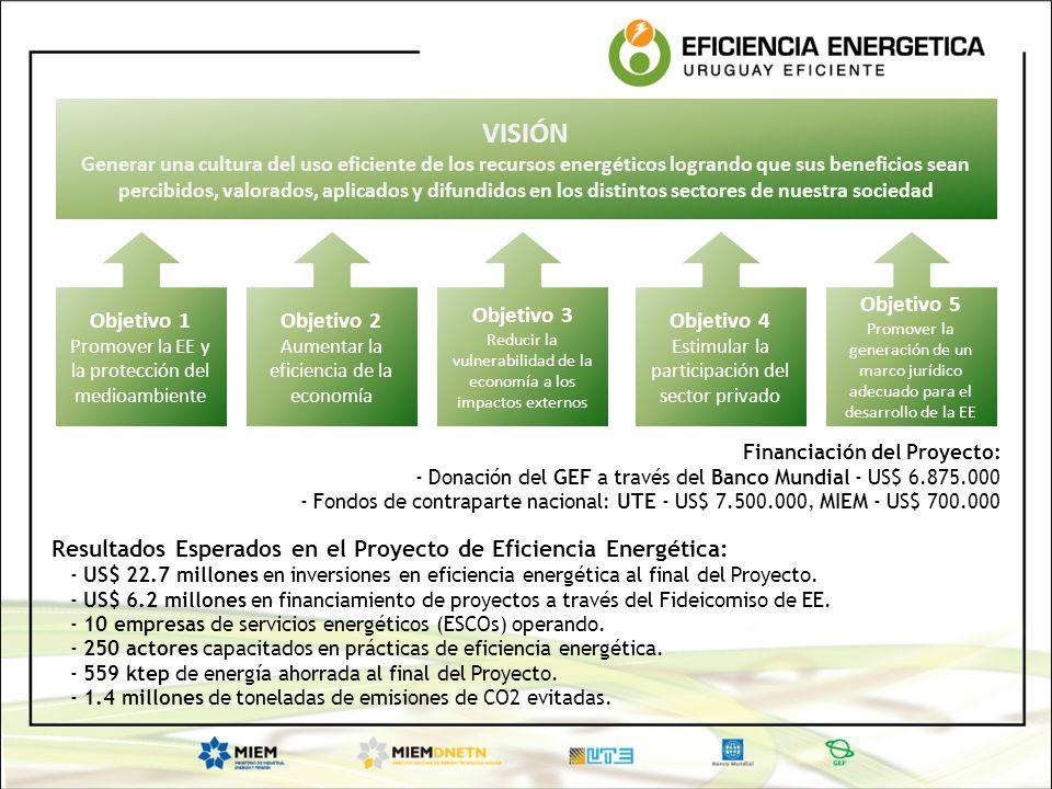 VISIÓN Generar una cultura del uso eficiente de los recursos energéticos logrando que sus beneficios sean percibidos, valorados, aplicados y difundido