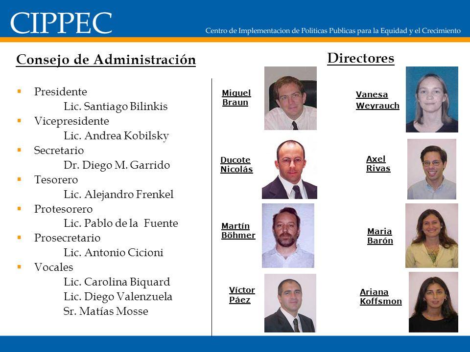 Presidente Lic. Santiago Bilinkis Vicepresidente Lic.
