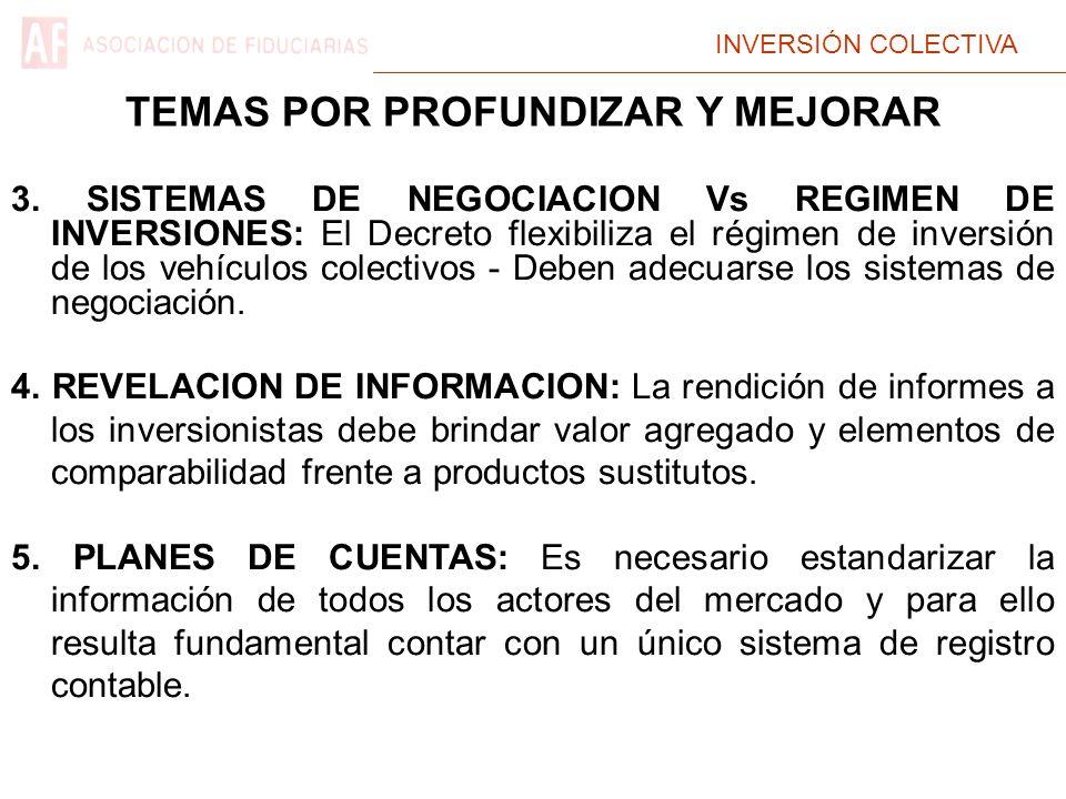 INVERSIÓN COLECTIVA 3. SISTEMAS DE NEGOCIACION Vs REGIMEN DE INVERSIONES: El Decreto flexibiliza el régimen de inversión de los vehículos colectivos -