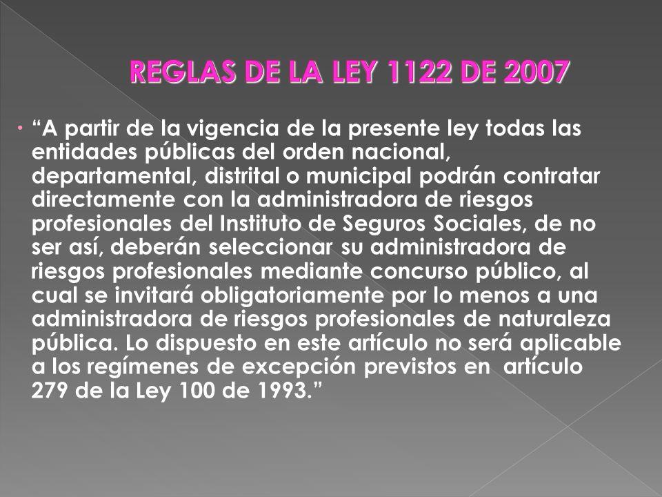 A partir de la vigencia de la presente ley todas las entidades públicas del orden nacional, departamental, distrital o municipal podrán contratar dire