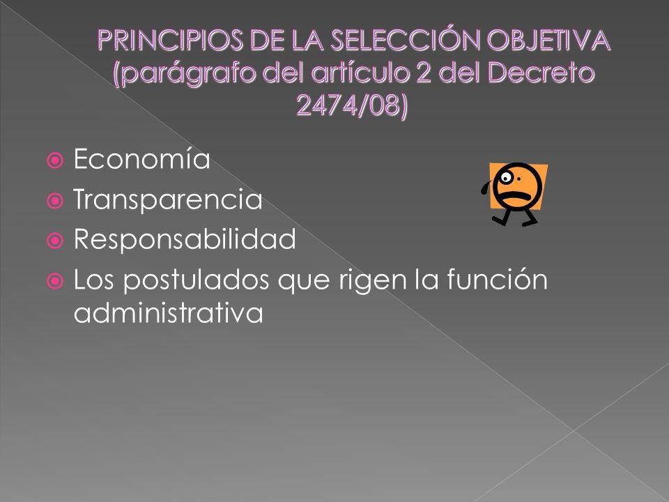 Economía Transparencia Responsabilidad Los postulados que rigen la función administrativa