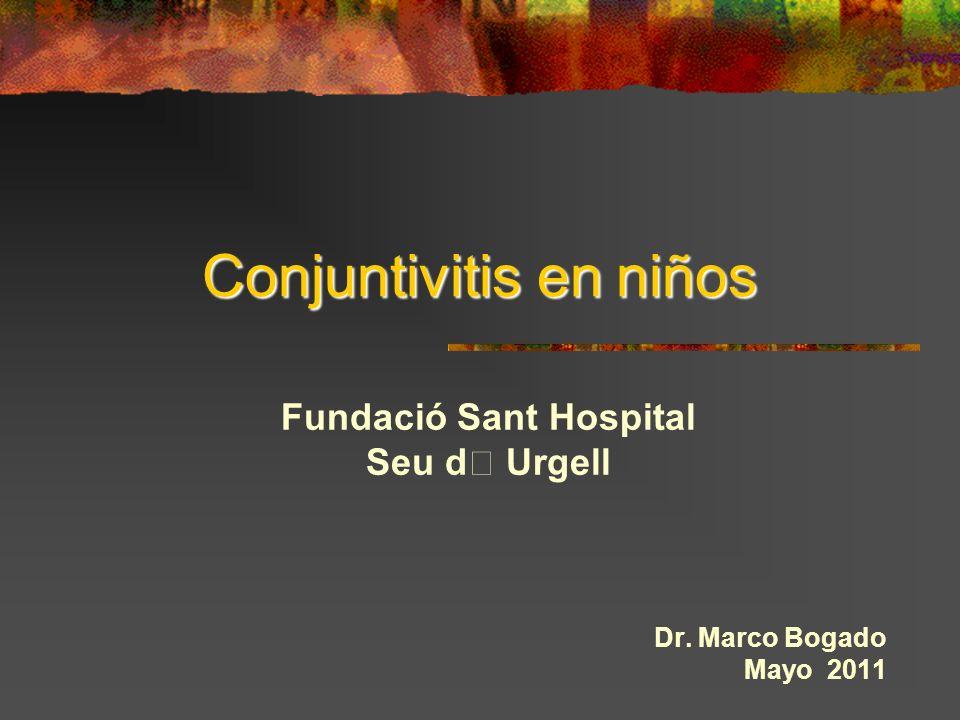 Conjuntivitis en niños Fundació Sant Hospital Seu d Urgell Dr. Marco Bogado Mayo 2011