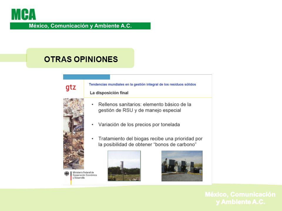 OTRAS OPINIONES