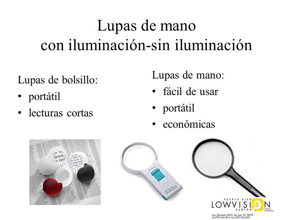 Lupas de mano con iluminación-sin iluminación Lupas de bolsillo: portátil lecturas cortas Lupas de mano: fácil de usar portátil económicas